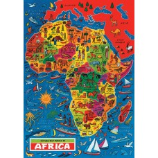 Map Puzzle of Africa Puzzle