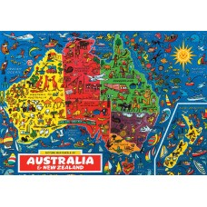 Australia and New Zealand - Map Puzzle - 500 Piece Puzzle
