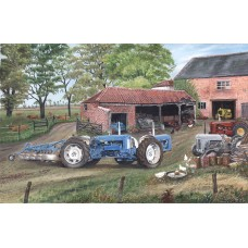 Blue Doe Tractor by Roy Didwell