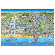 Map Puzzle of Brighton - Views from above Britain