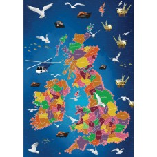 Map Puzzle of Lifeboat Stations Great Britain and Ireland