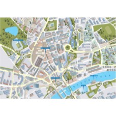 Newcastle - Views from above Britain- Map Puzzle