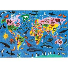 Map Puzzle Animal World