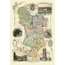 Map Puzzle of Old Derbyshire  by Thomas Moule Circa 1836