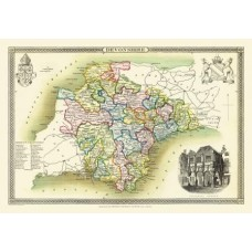Map Puzzle of Old Devonshire  by Thomas Moule Circa 1836