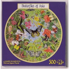 Butterflies of Asia circular puzzle