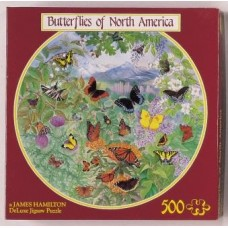 Butterflies of North America round puzzle