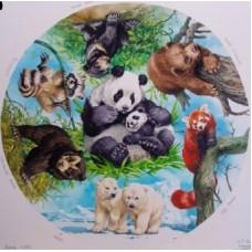 Bear Cubs Circular 500 piece Puzzle