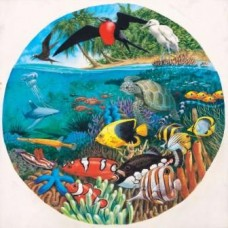 Coral Sea  round puzzle 500 Pieces