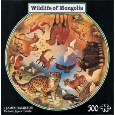Wildlife of Mongolia Circular Puzzle