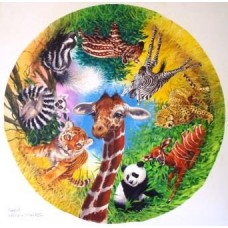 Spots and Stripes circular 500 piece puzzle
