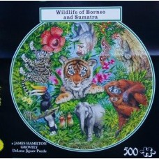 Wildlife of Borneo and Sumatra circular 500 piece puzzle